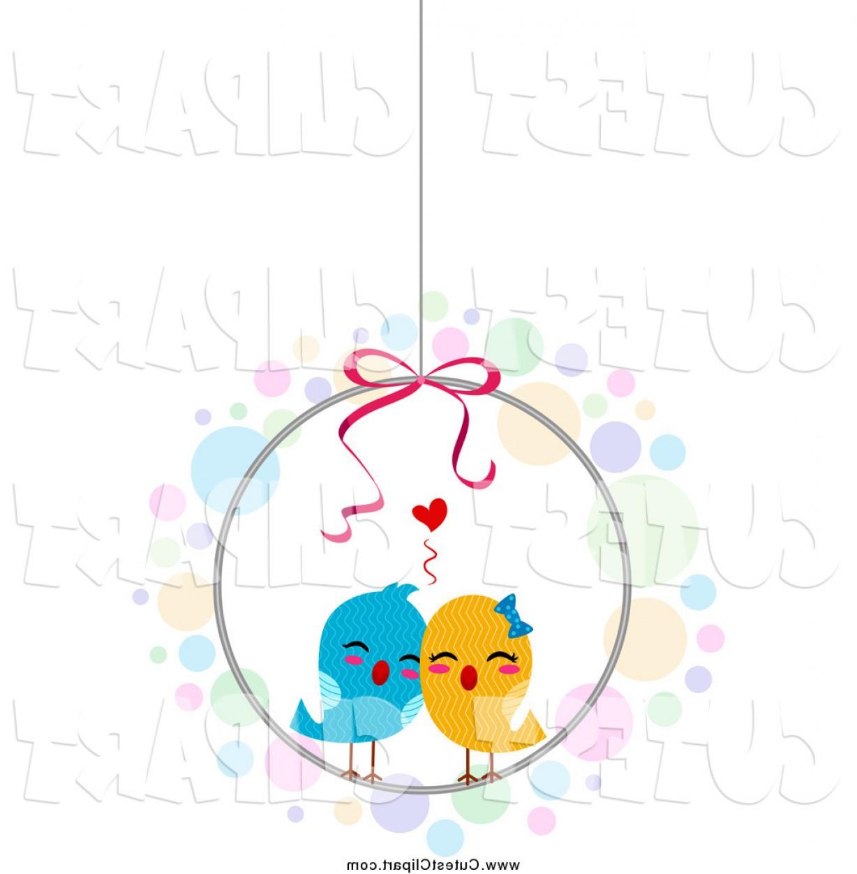 1228x1252 Cartoon Vector Clip Art Of A Love Birds In A Cage By Bnp Design