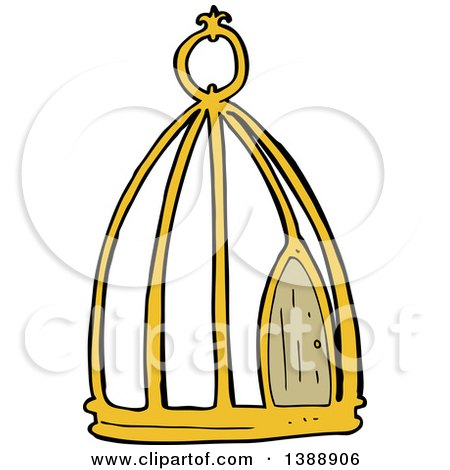 450x470 Clipart Vintage Black And White Antique Bird Cage 2