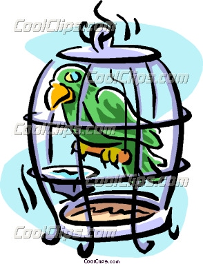 294x383 Pet Bird Cage Clipart