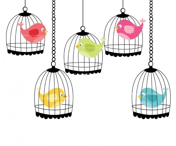 600x500 Posh Vector Vector Illustration Along With A Vintage Bird Cage