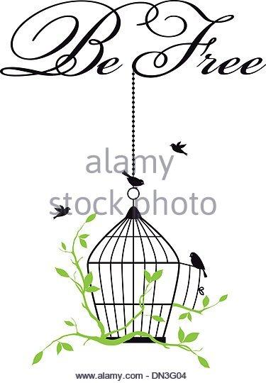 375x540 Bird Cage Flying Bird Stock Vector Images