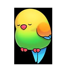220x220 Sleepy Bird Fluff Favourites Bird, Clip Art And Kawaii