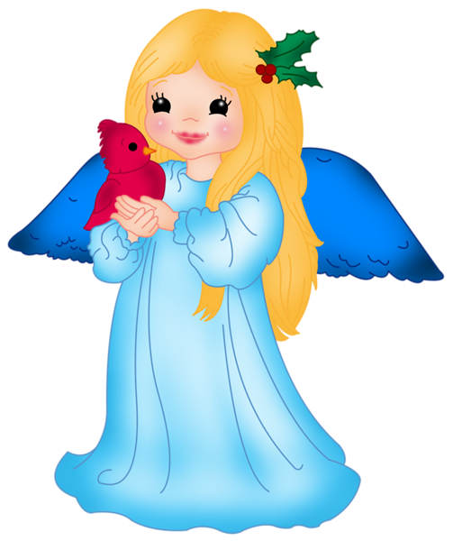 503x600 Blue Little Angel With Bird Png Clipart Bautizo Para