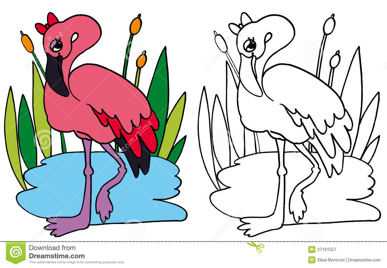 1300x902 Flamingo Coloring Page