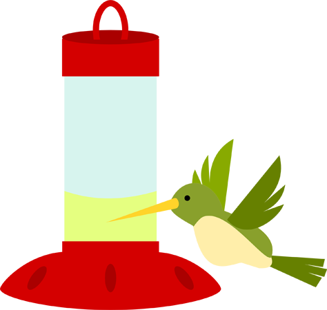 474x450 Hummingbird And Feeder