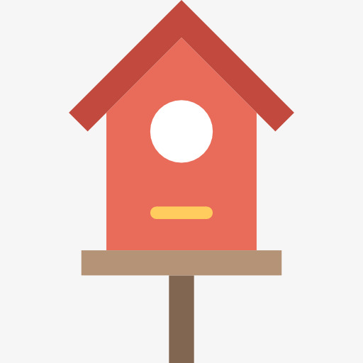 512x512 Red Hut, Red, Cabin, Bird House Png Image And Clipart For Free