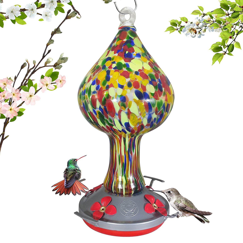 1500x1500 Red Speckled Mushroom Hummingbird Feeder