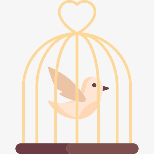 512x512 Bird Cage, Caged Bird, Birds, Yellow Bird Png Image And Clipart