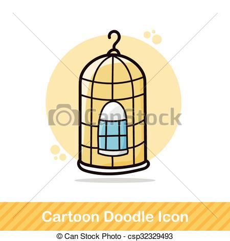 450x470 Bird Cage Doodle Eps Vectors