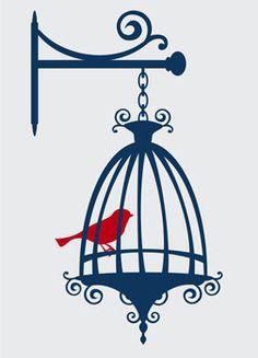 236x327 Birdcage Clipart Blue