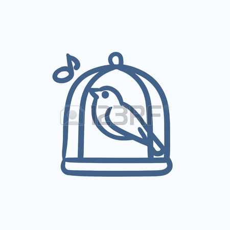 450x450 Cage Clipart Sketched Bird