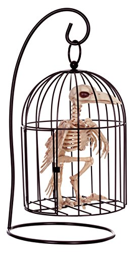 271x500 Crazy Bonez Skeleton Crow In Small Cage Amazon.co.uk Toys Amp Games