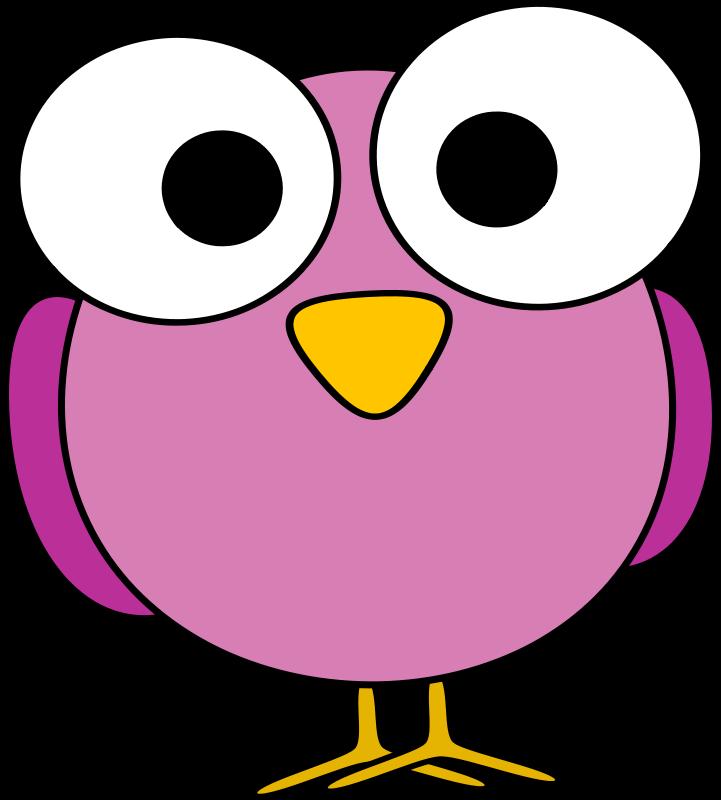 721x800 Free Clipart Pink Googley Eye Bird Anarres