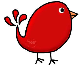 340x270 Red Bird Clipart