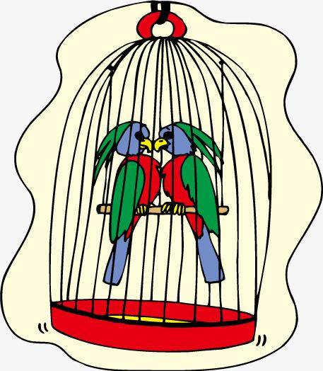 457x524 Vector Cartoon Cage Birds, Cage, Vector Cartoon, Bird Png