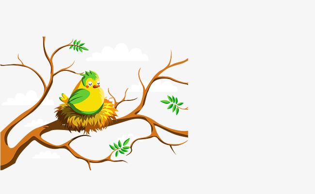 650x400 Birds Nest In The Nest, The Bird's Nest, Tree, Cartoon Png