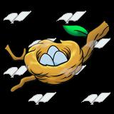 160x160 Abeka Clip Art Bird's Nest On A Branch