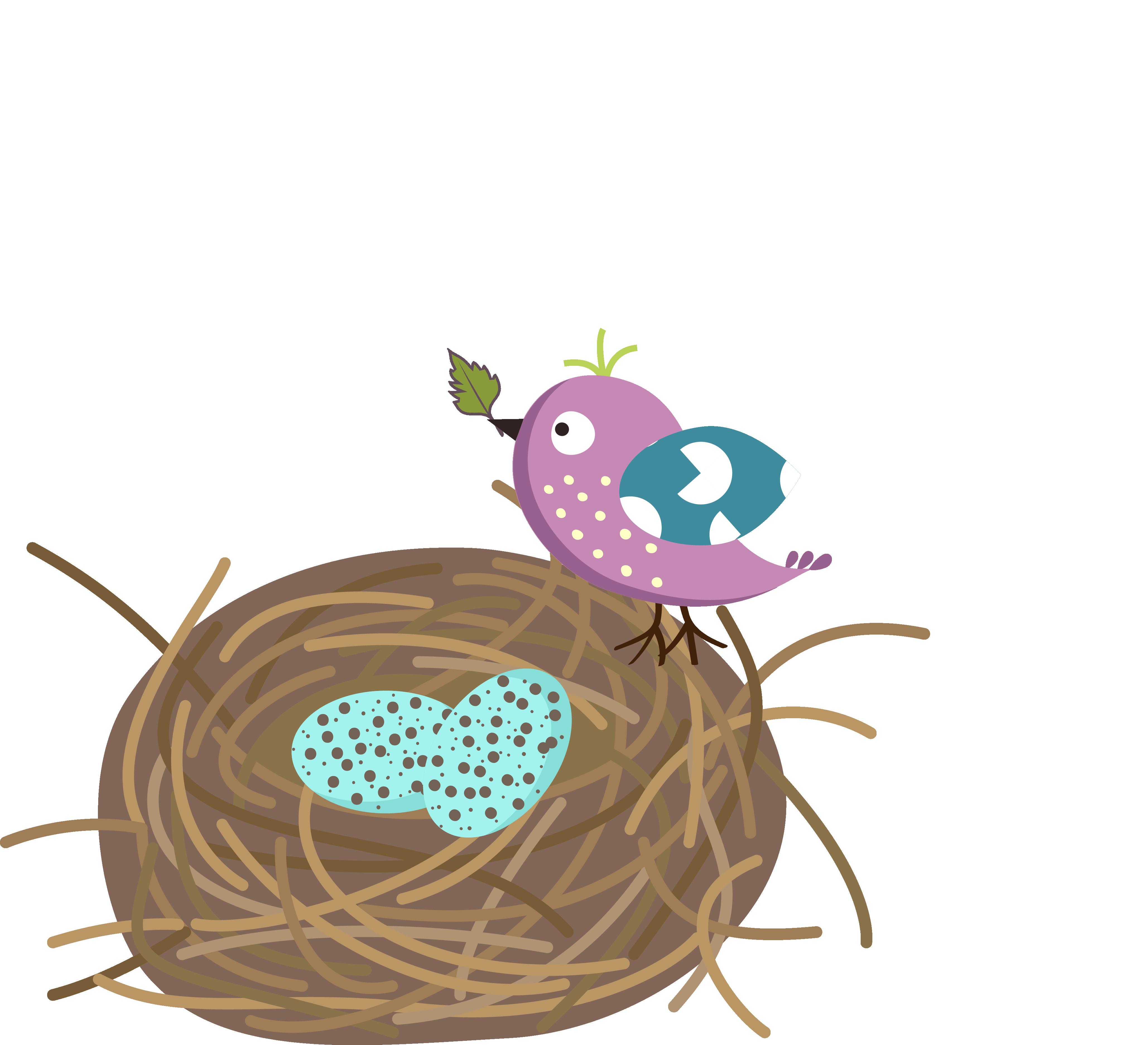 4115x3748 Unconditional Bird Nest Cartoon With Eggs Clip Art Sweet