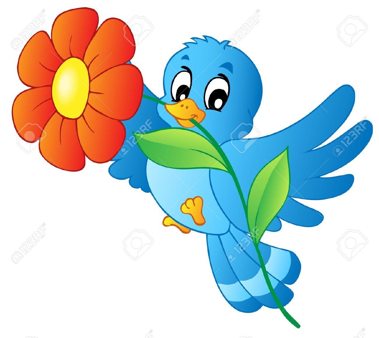 1300x1161 Bird Flower Clipart