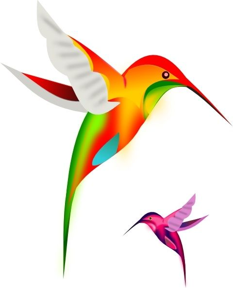 480x594 Colibri Birds Clip Art 3 Sister Tattoos Clip Art