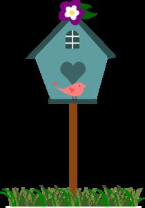 210x300 Birdhouse With Bird Clip Art