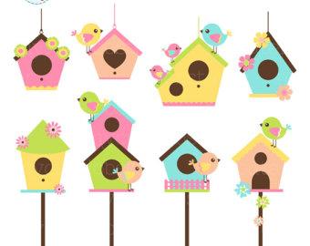 340x270 Birdhouses Clipart Etsy