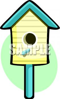 211x350 Blue And Yellow Bird House