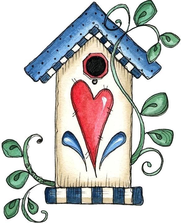 585x720 Free Clip Art Bird Houses Free Clip Art Bird Houses Whimsical