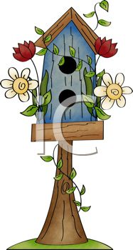 187x350 Rustic Birdhouse Perched On A Tree Stump