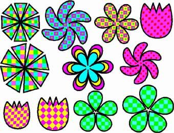 340x260 Funky Flower Clip Art Funky Flower Friendship Frames Doodling