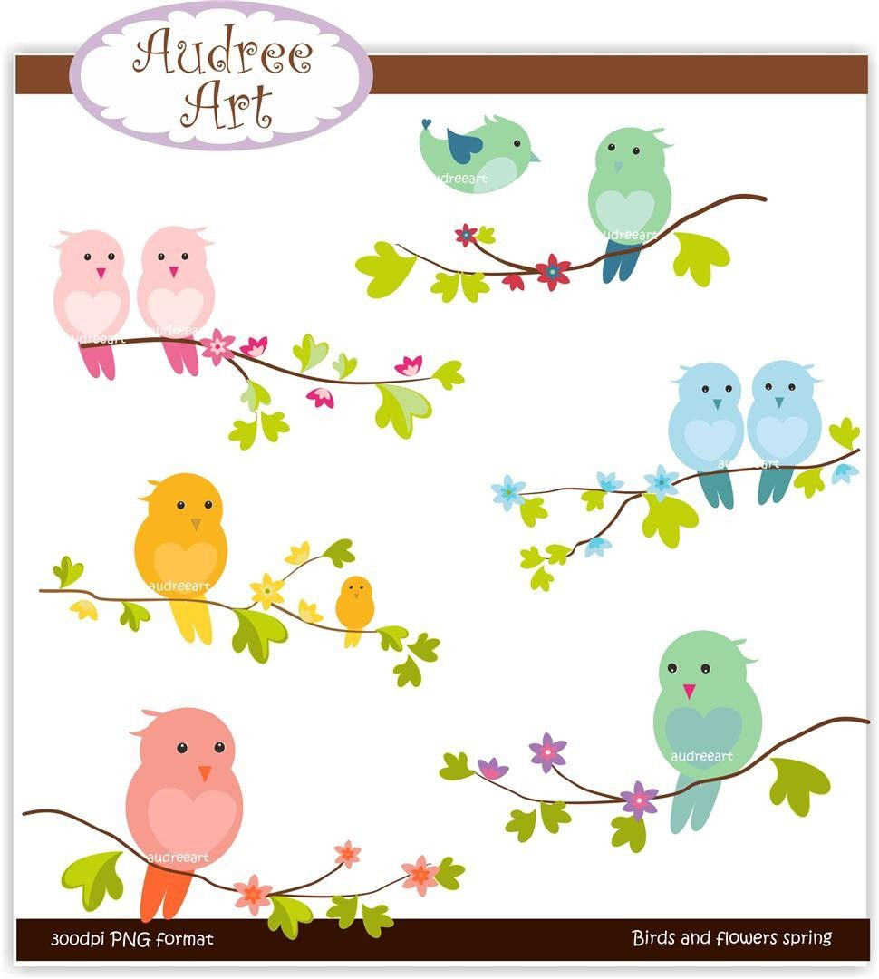 970x1080 Spring Clip Art Clip Art. Birds, Birds And Flowers Spring