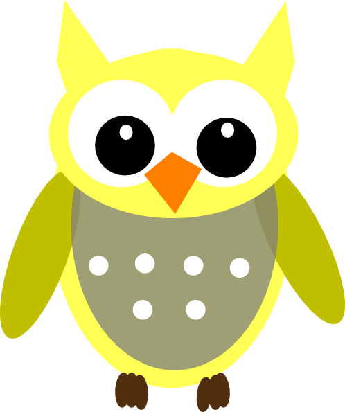 498x595 Cute Owl Clipart Cute Yellow Gray Owl Clip Art