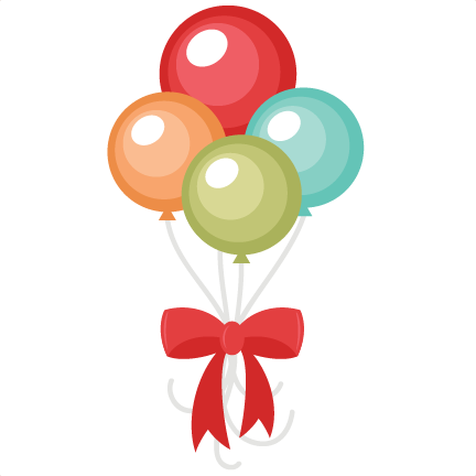 432x432 Happy Birthday Balloons Clip Art