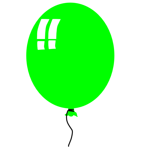 500x500 Image Of Balloon Clip Art
