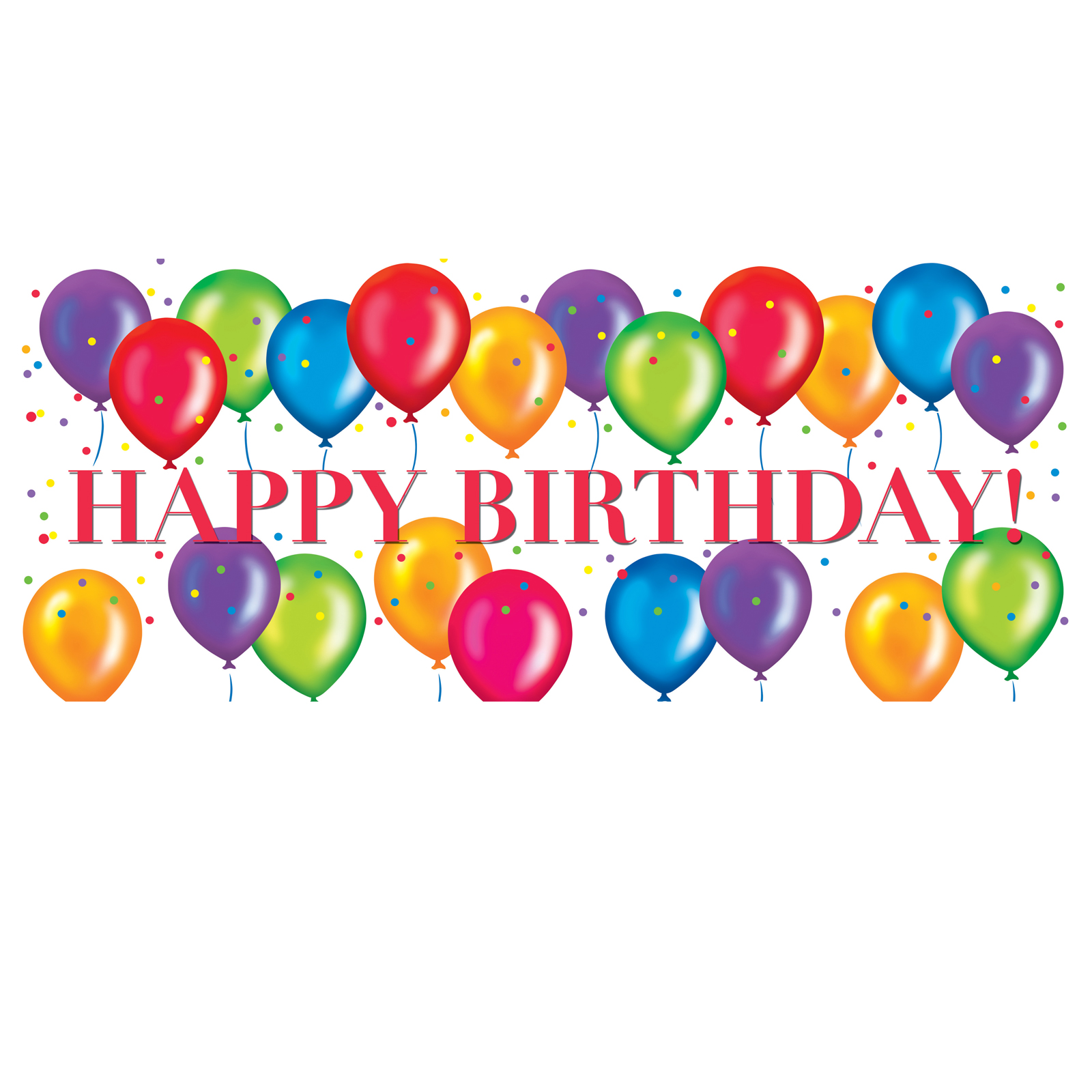 1600x1600 Happy Birthday Balloons Clipart Cartoon Birthday Balloons Clip Art