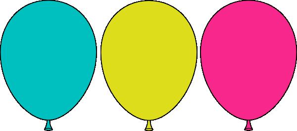 600x264 Balloon Trio Clip Art