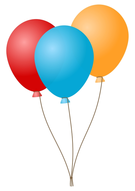 567x800 Birthday Balloons Clipart