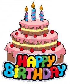236x281 Cartão de aniversário com bolo Birthdays, Happy birthday and
