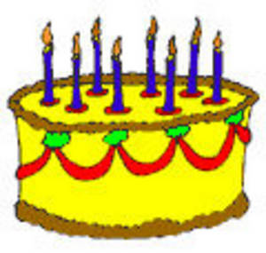 300x285 Free Clip Art Birthday Candles
