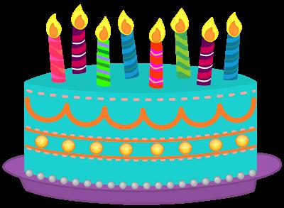 400x293 Image of Birthday Cake Clipart