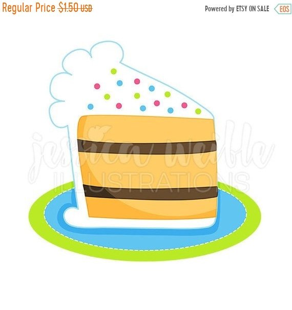 570x604 On Sale Slice Of Birthday Cake Cute Digital Clipart, Cake Clip Art