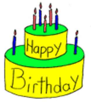 312x350 Free Clipart Picture Of A Birthday Cake With 7 Candles
