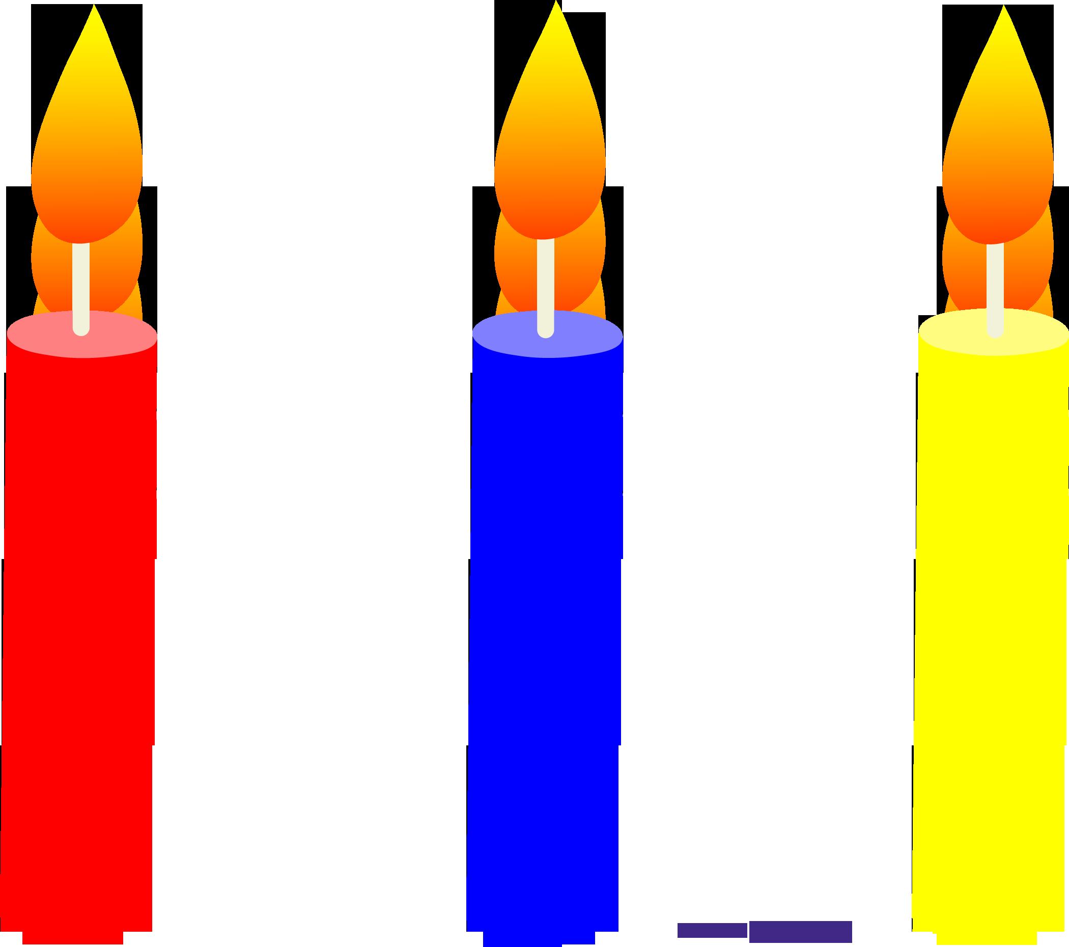 2100x1860 Holidays Birthday Candles Trio 1 Clipart