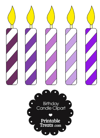 400x550 Birthday Candle Clipart Purple Birthday Candles Clipart Clipart