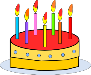 300x246 Birthday Cake Clip Art