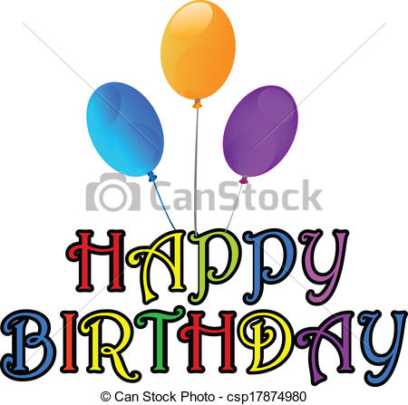 450x447 Happy Birthday Greetings Card Vector Vector
