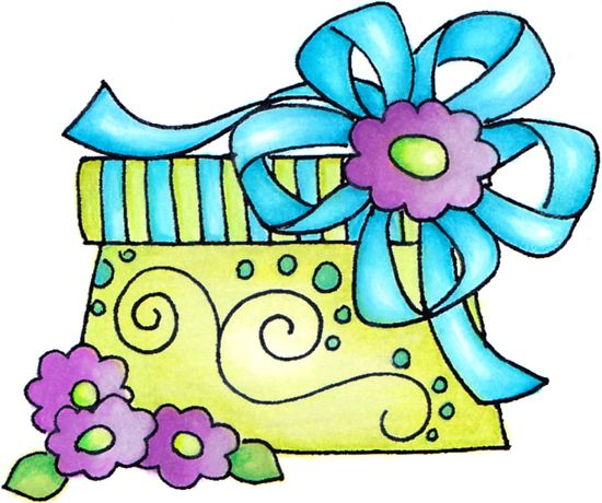 550x460 Pretty Present Xmas Clip Art, Birthdays And Stamps