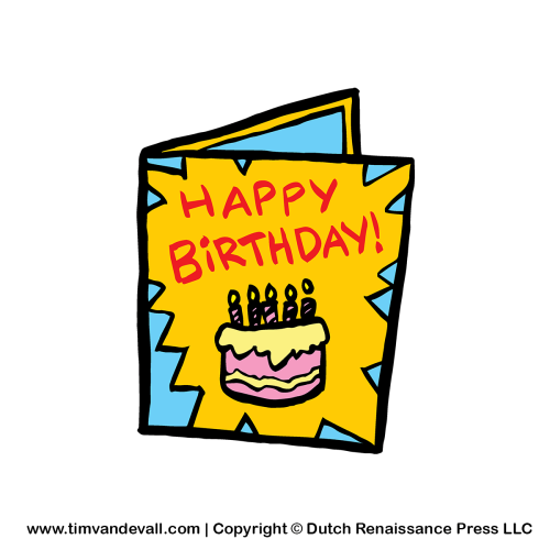 500x500 Clipart Birthday Cards Birthday Card Clipart Drawings