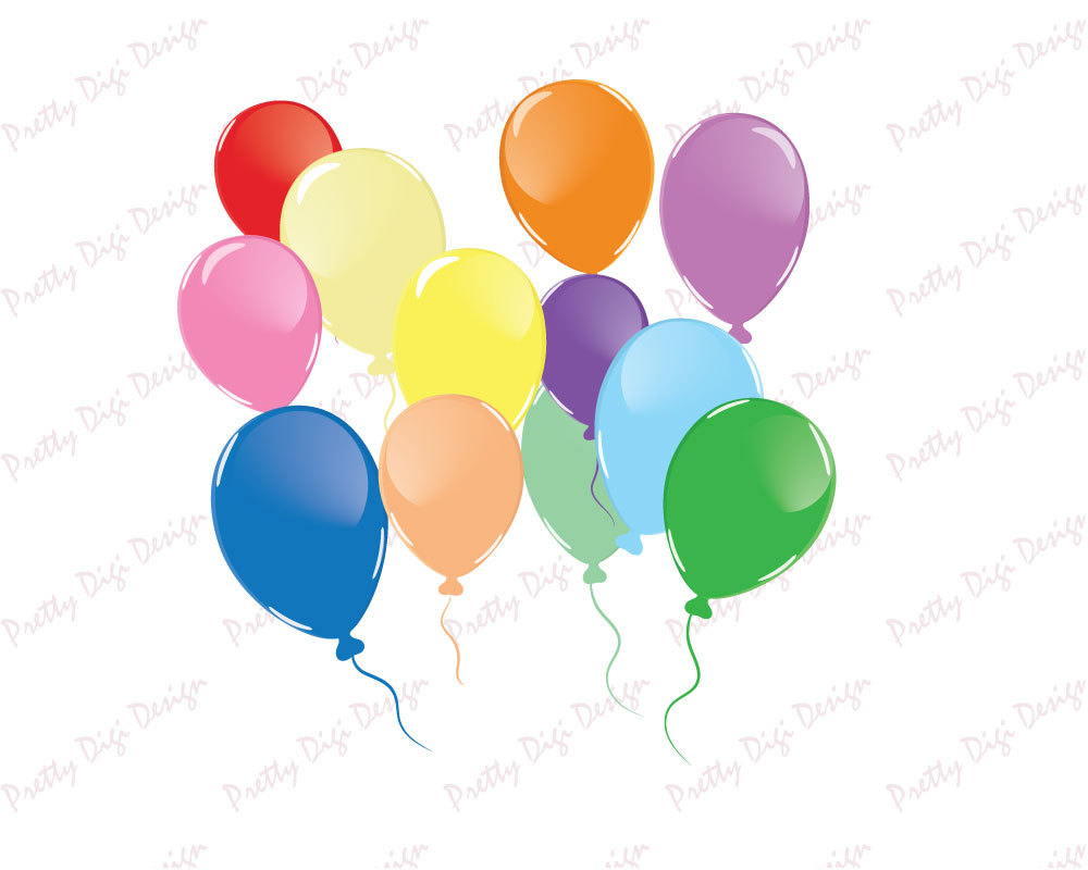 1000x800 Balloons Clip Art Overlays, Balloons Png, Eps, Balloons Stamp