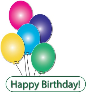 283x300 Happy Birthday Balloon Clipart
